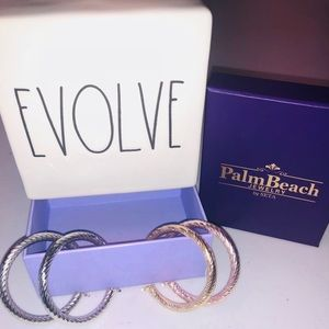 palm beach jewelry hoop earrings